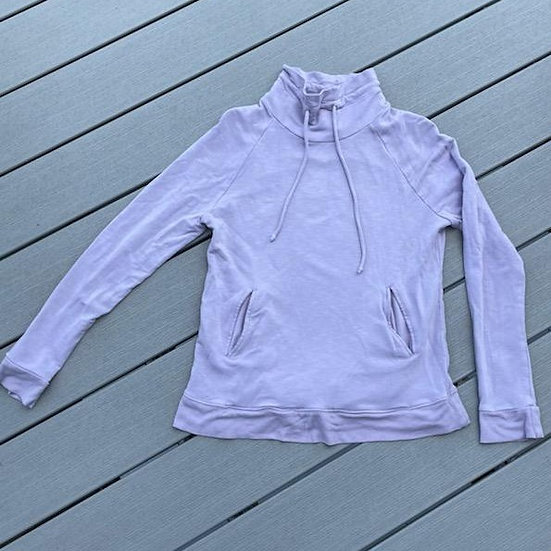 For the Republic Mock Turtleneck Lilac Hoodie