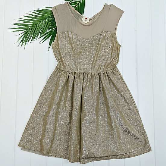 One Clothing Gold Metallic Dress
