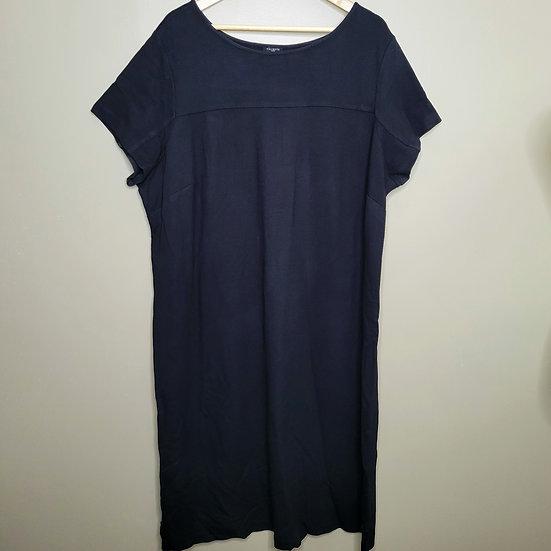 Talbots Black Short Sleeve Sheath Dress
