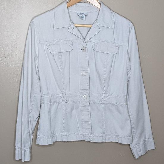 Ann Taylor LOFT Khaki Button Down Jacket