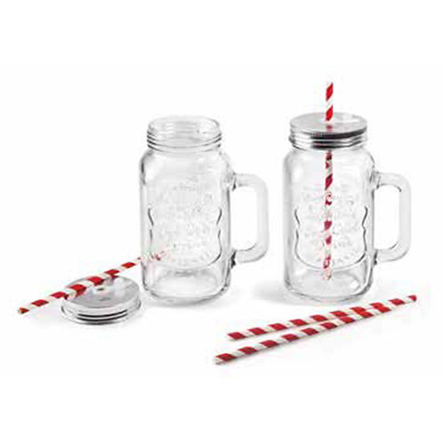 Set 2 pichets en verre Mix & Go 0.50 l