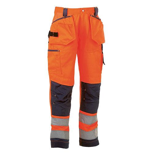 Styx Haute visible pantalon Orange/Blue Marine