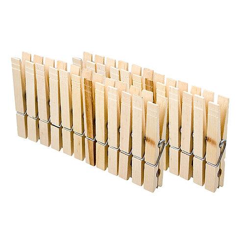 Set 24 pinces à linge bois