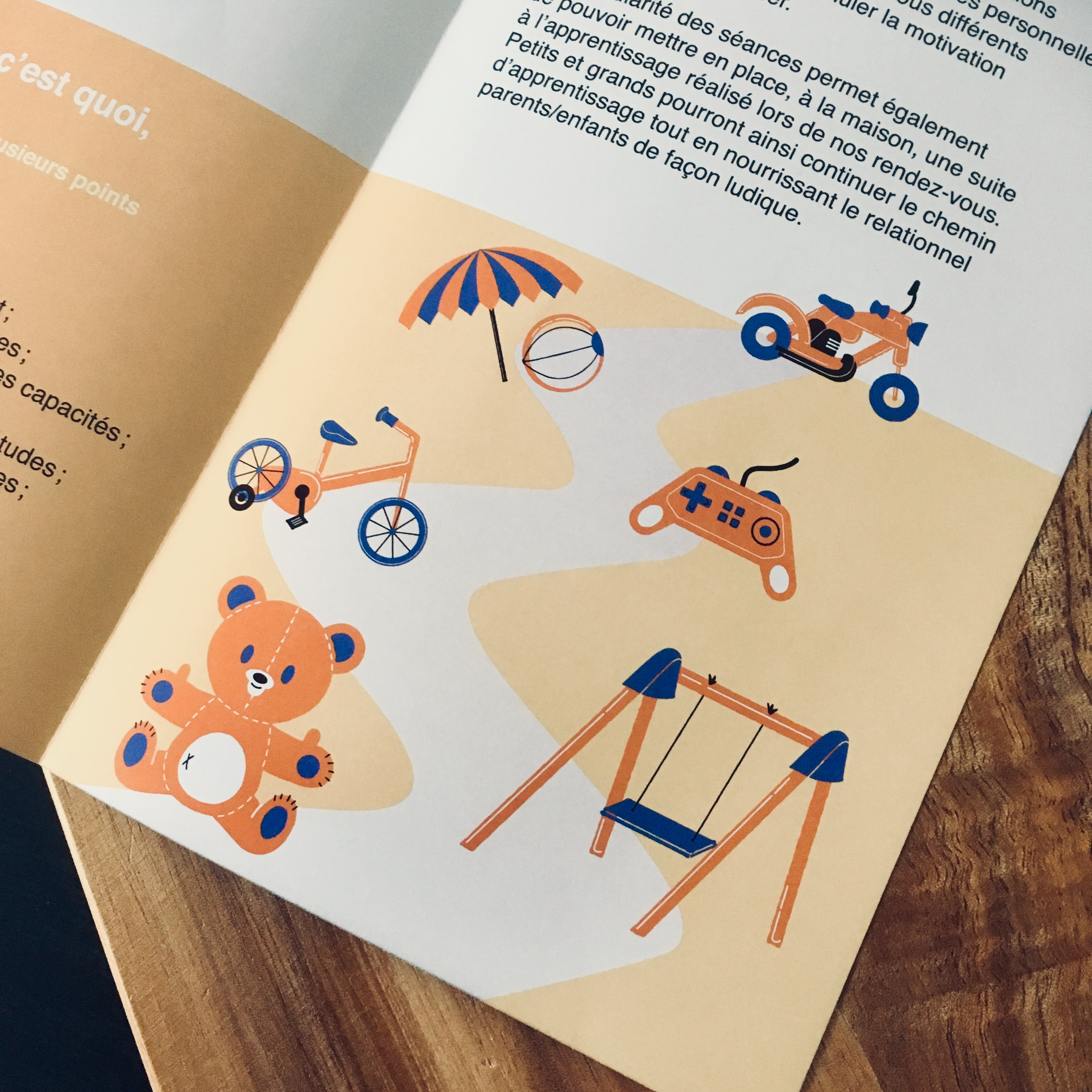 Illustrations brochure sophrologie