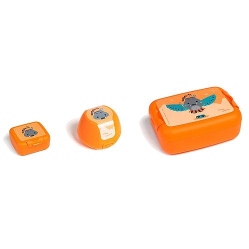 Giftbox 3x Hippo orange 26x13.5x8.5cm