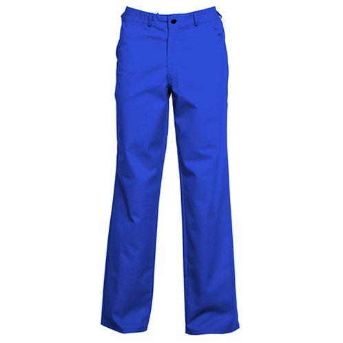 Pantalon 65% polyester / 35% coton bleu royal