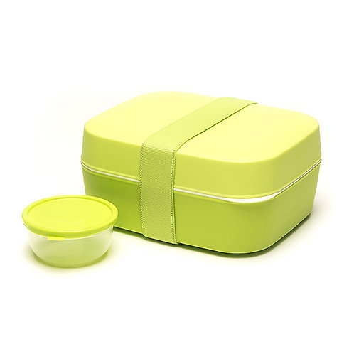 Lunchbox 3 in 1 green 18x15x8.5 cm