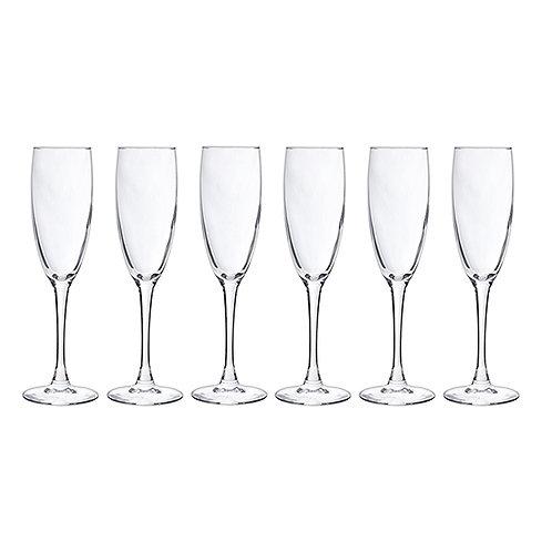 Set 6 verres à champagne 19cl