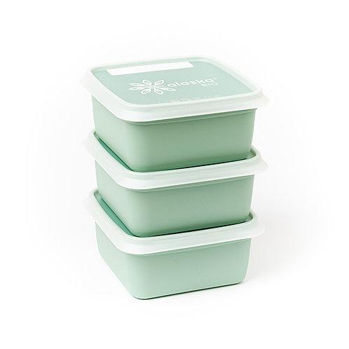 3 Boîtes de congélation carrées 0.50L 12.8 cm