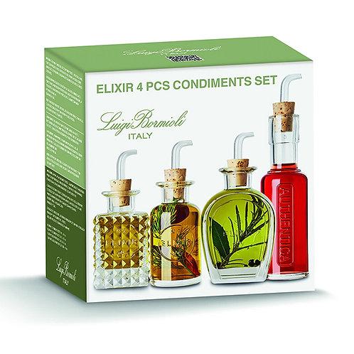 Elixir 4 pièces Condiments set