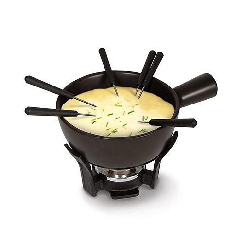 Set fondue fromage noir 1l