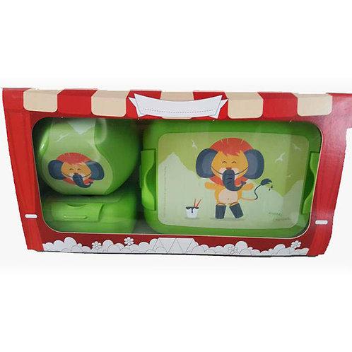 Giftbox 3x Lion green 26x13.5x8.5cm