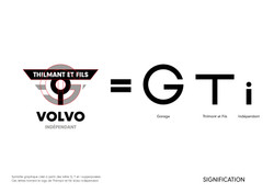 Signification logo Thilmant et fils Volvo indépendant