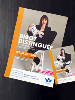 Affiche et flyers pour le spectacle de Laurence Bibot