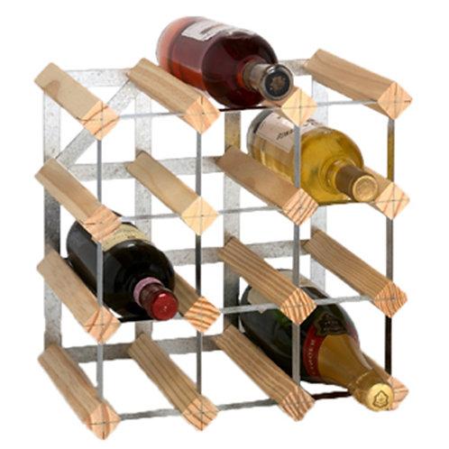 Casier à Vin Galvanisé - Natural  33 cm