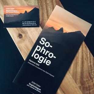 Cartes de visite et brochures sophrologie