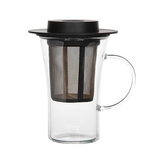 Verre à thé avec filtre et couvercle 280ml
