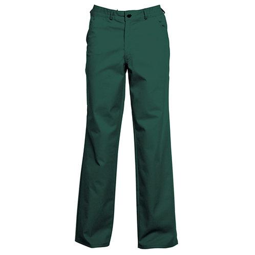 Pantalon 65% polyester / 35% coton vert bouteille