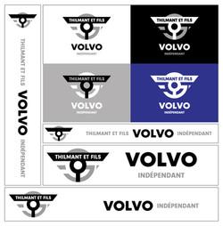 Déclinaisons logo Thilmant et fils Volvo indépendant