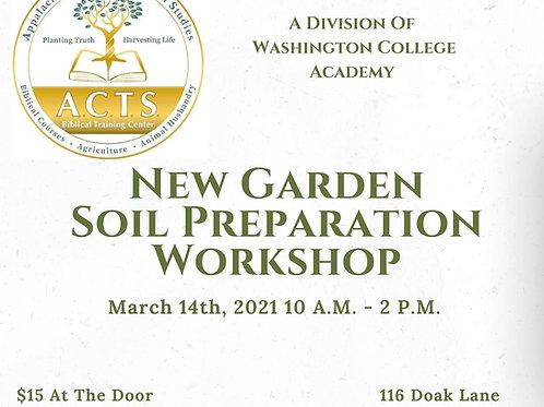 New Garden Soil Preparation