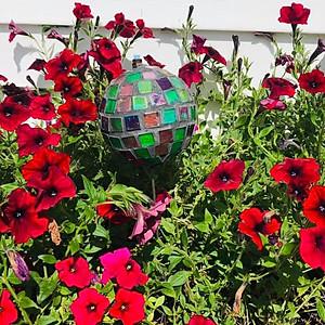 Glass Yard Balls & Mosaics