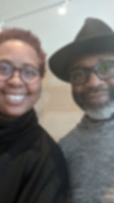 Hana L. Anderson with Theaster Gates