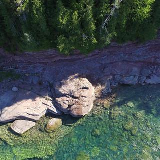 Vue aérienne roche Le Malin