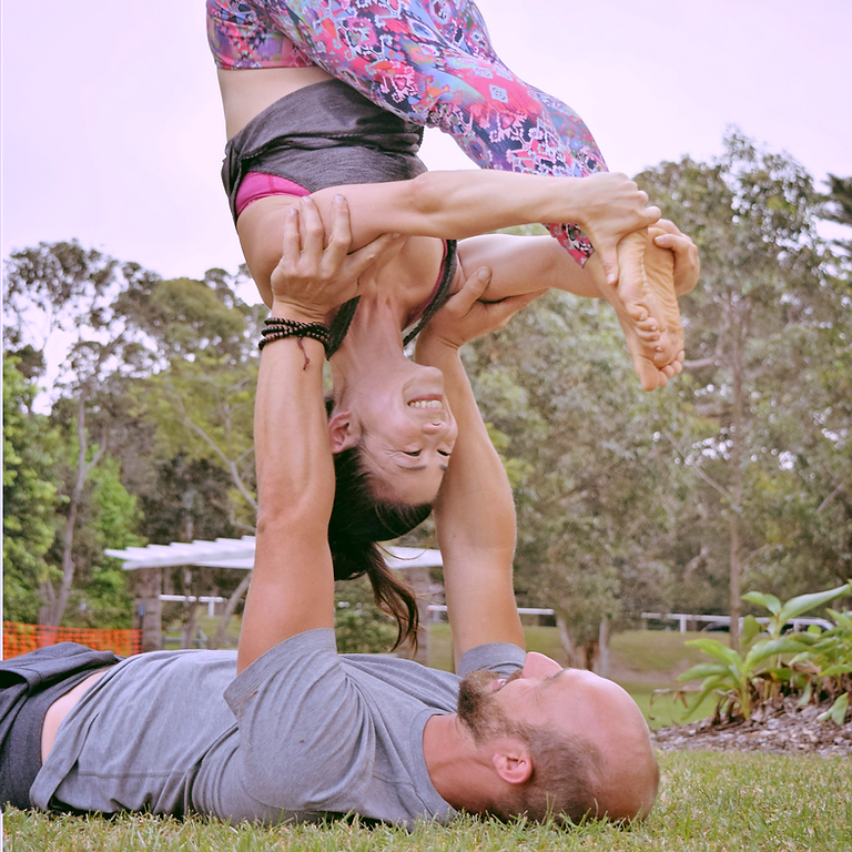 Acro Yoga Workshop at Majors Creek Festival