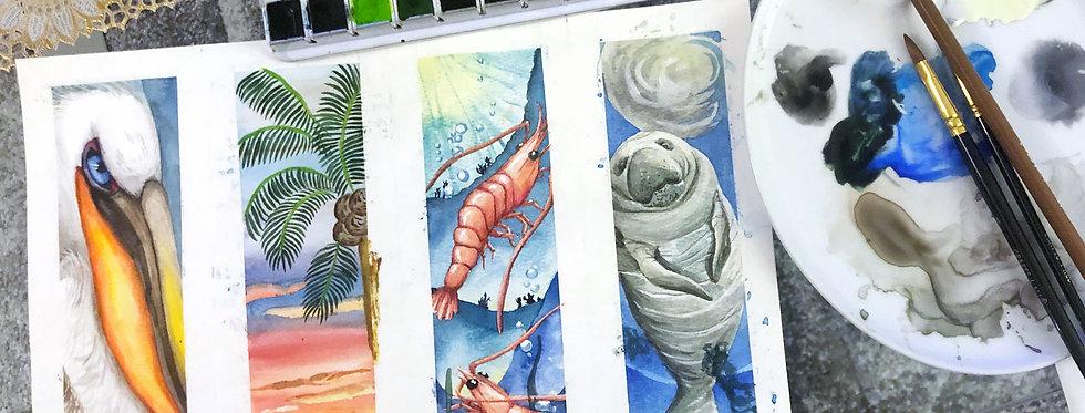 Watercolor Bookmark Set - Gulf of Mexico