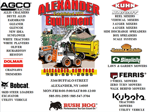Kubota, Bobcat, Ferris | Alexander Equipment | Alexander, NY