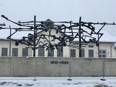 """""""Never Again"""" Dachau, Jan. 2019"""