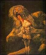 Goya: Saturn Devouring his Children