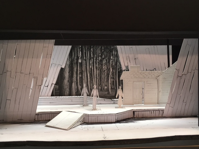 A picture of Jimmy Ray Ward's set design model, built by the artist