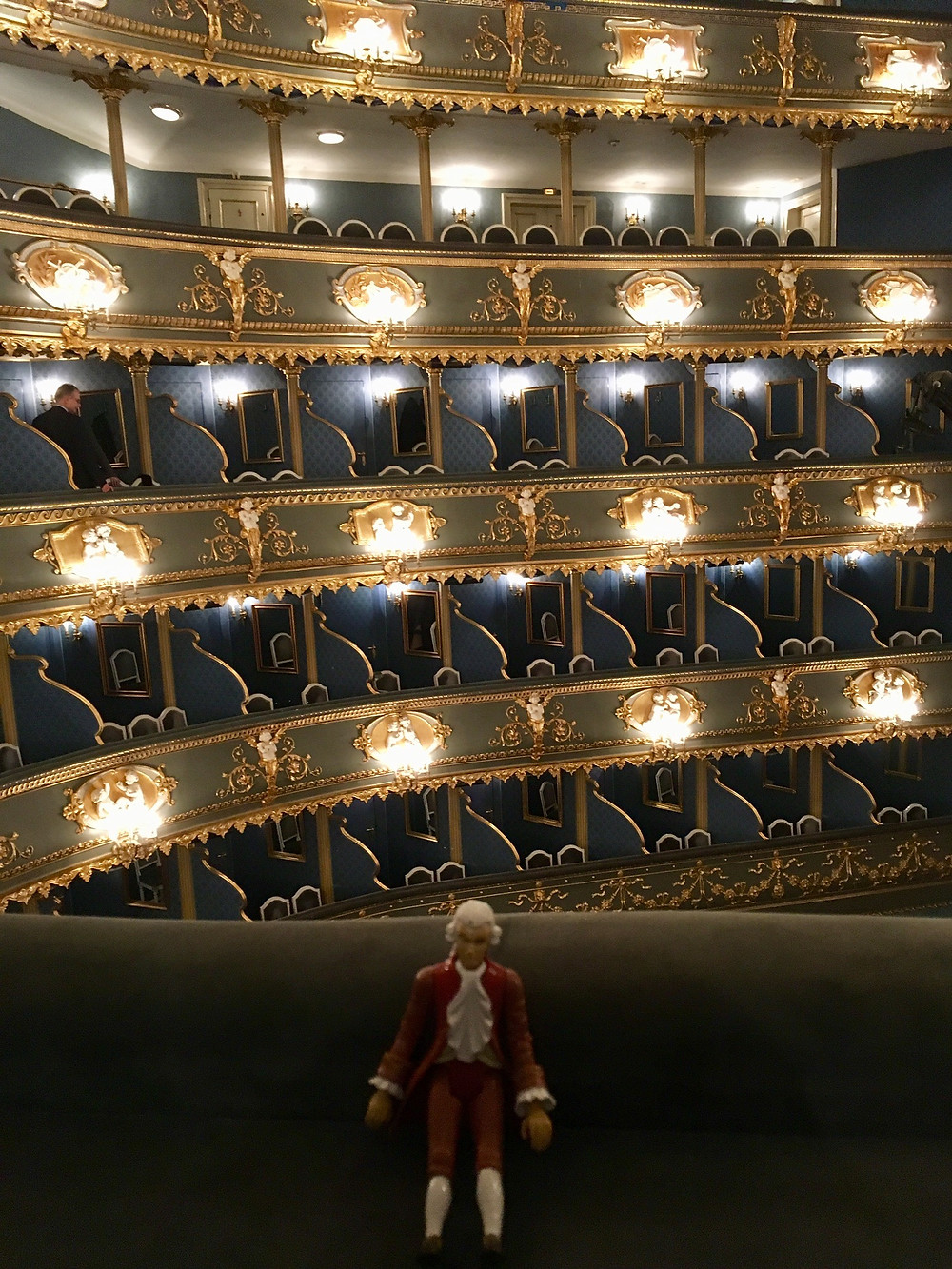 Inside the Estates Theatre for Mozart's last night in Prague