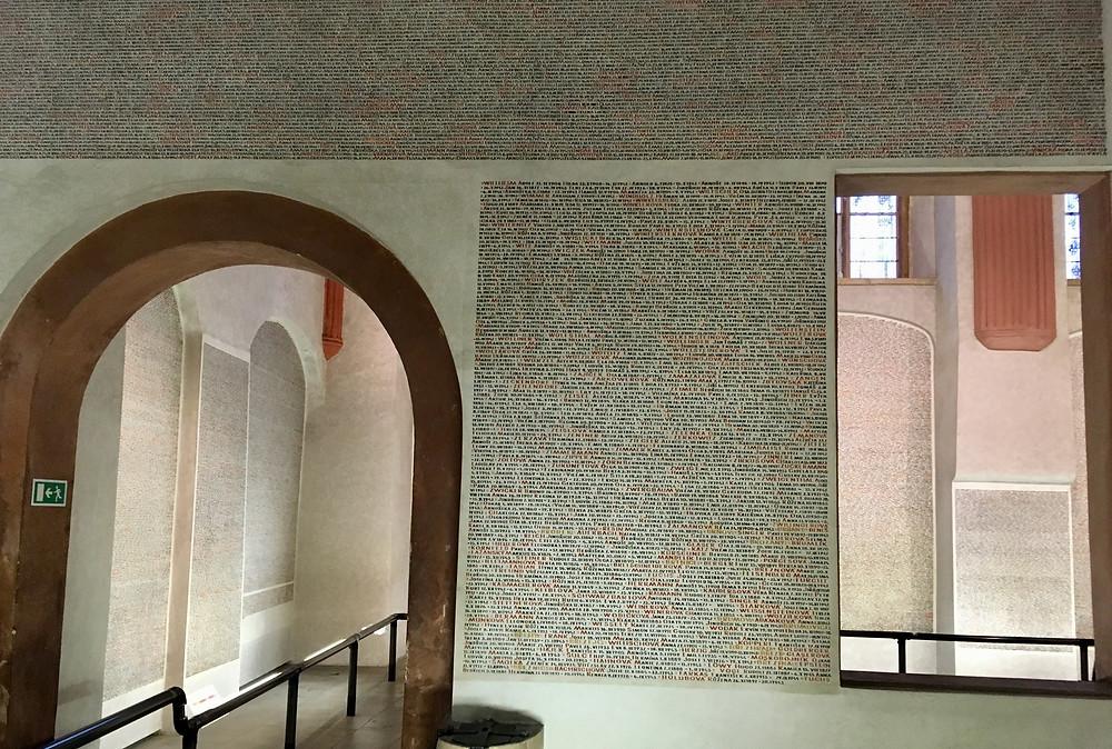 Shoah memorial, Pinkas Synagogue, Prague