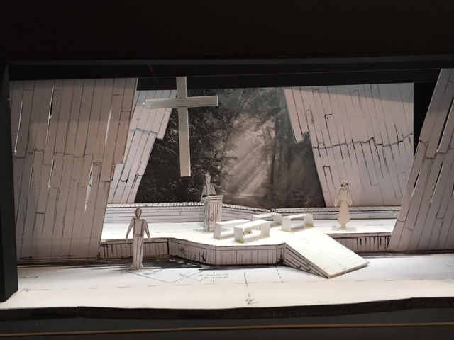 One of the scenes fro Jimmy Ray Ward's set model, designed by the artist