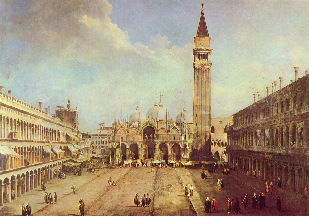 "Canaletto's famous portrait of Piazza San Marco, ""St Mark's Square"""