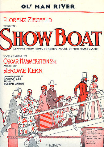 """Sheet music cover for """"Ol' Man River"""" from Show Boat"""