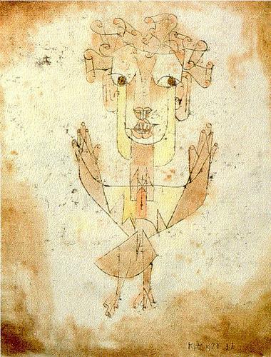 """Klee's """"Angelus Novus"""", one of Benjamin's favorite painting"""
