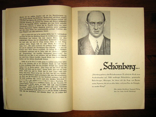"""Arnold Schoenberg in the """"Degenerate Music"""" catalogue"""