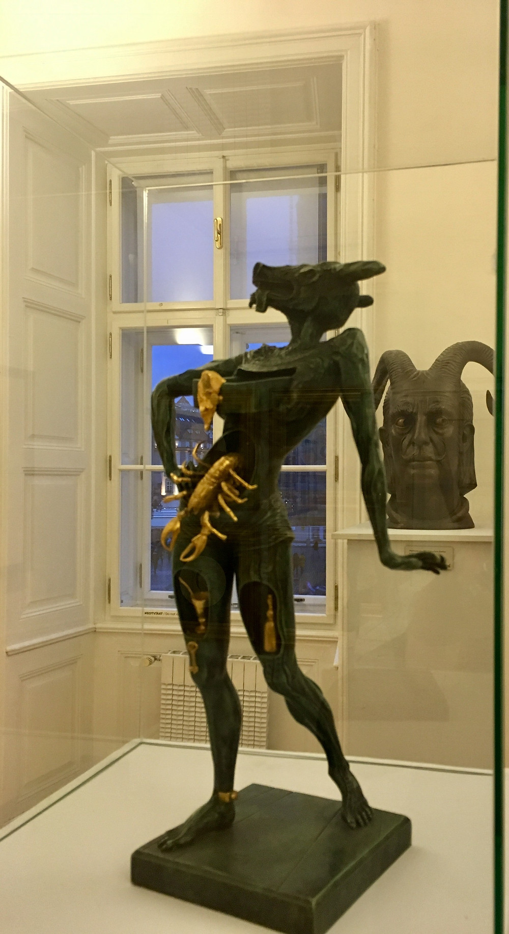 Dalí: Minotaur and Dalí bust with horns