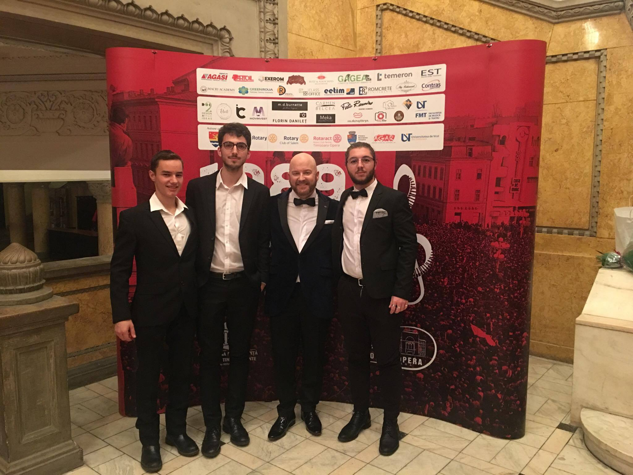 Tenors at Opera Romana Dec 2017