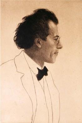 Mahler portrait by Orlik