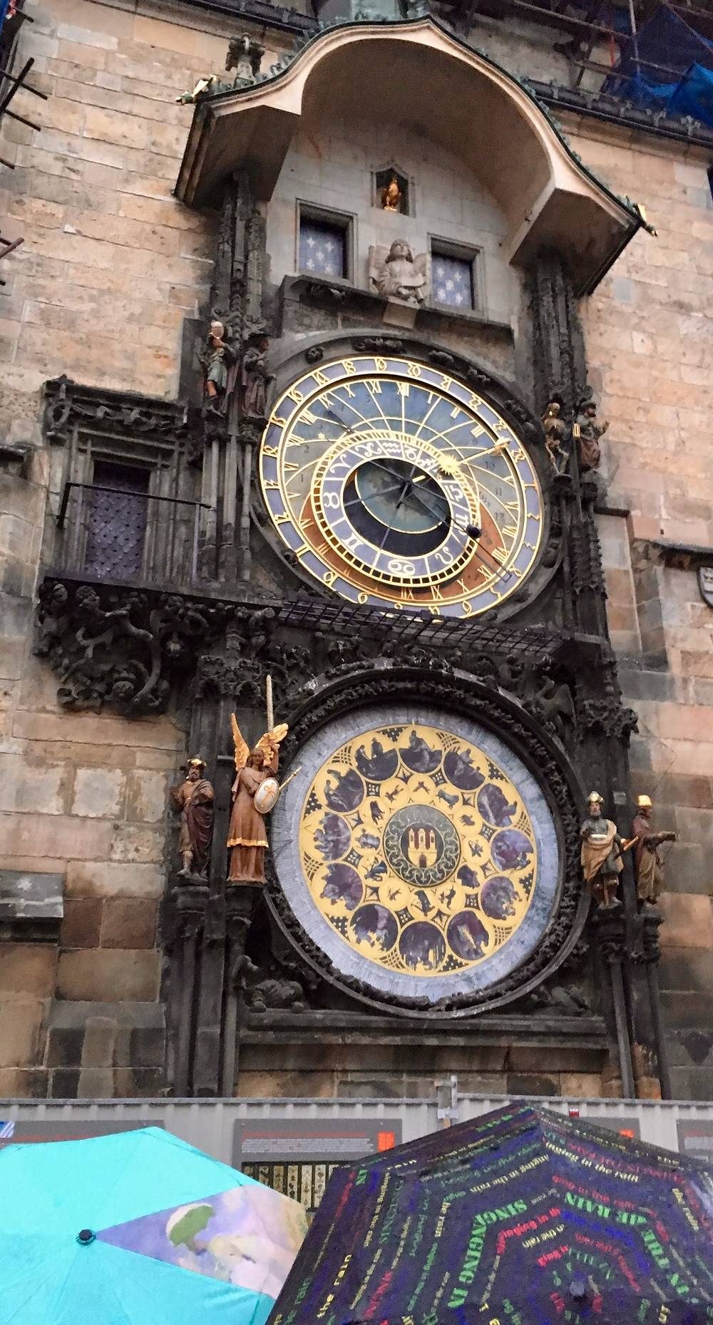 Prague's famous Astronomical Clock, at Old Town Square