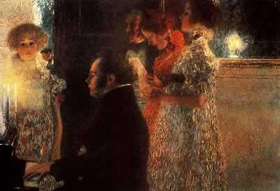 Klimt's expressionist portrait of Schubert