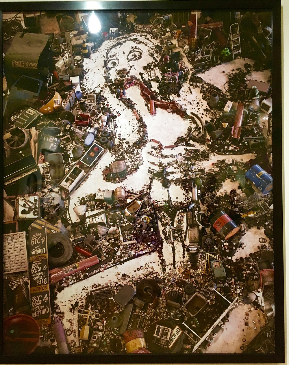 Vik Muniz: Goya's Saturn Devouring His Children, photograph of found objects, various media