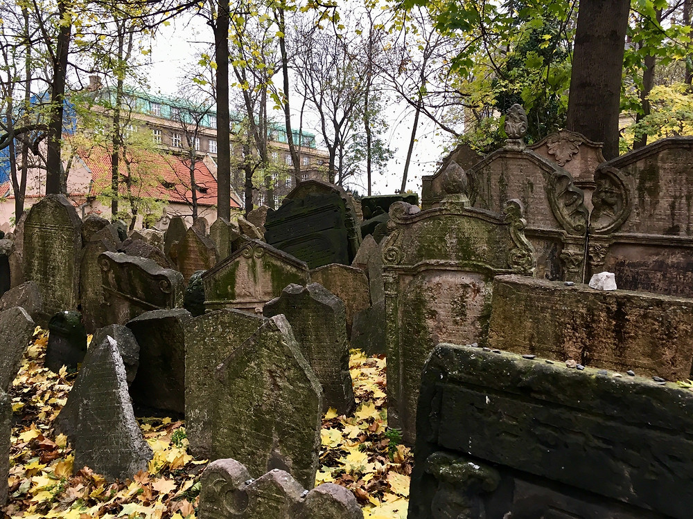 Among the 12,000 ancient tombstones in the Old Jewish Cemetery