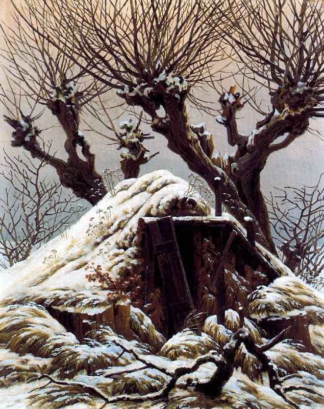 Friedrich's hut under snow