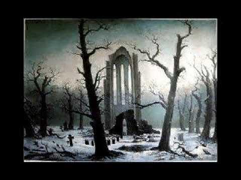 Friedrich's Abbey graveyard in snow