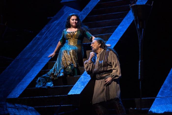Liudmyla Monastyrska and Placido Domingo in Nabucco at MET